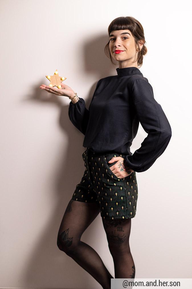 Cha' coud - Patron de couture pdf - blouse hanaé short ema