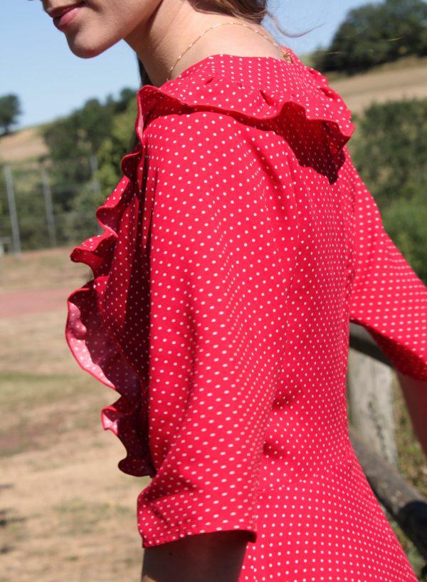 Réalisation du patron de couture la robe Angélique de Cha' coud