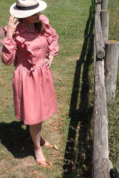 Réalisation du patron de couture de la robe Elena de Cha' coud