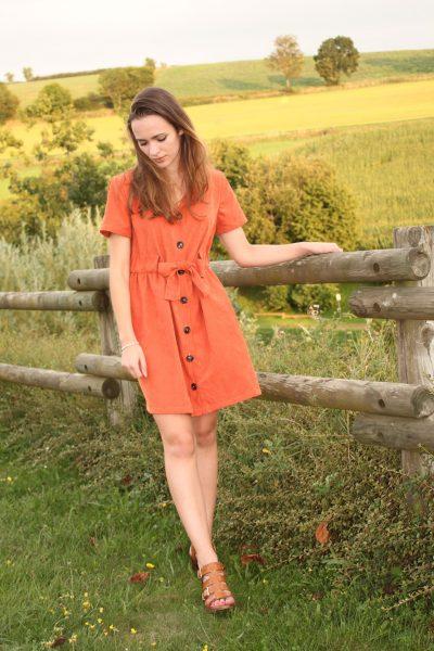 Réalisation du patron de couture la robe Katy de Cha' coud