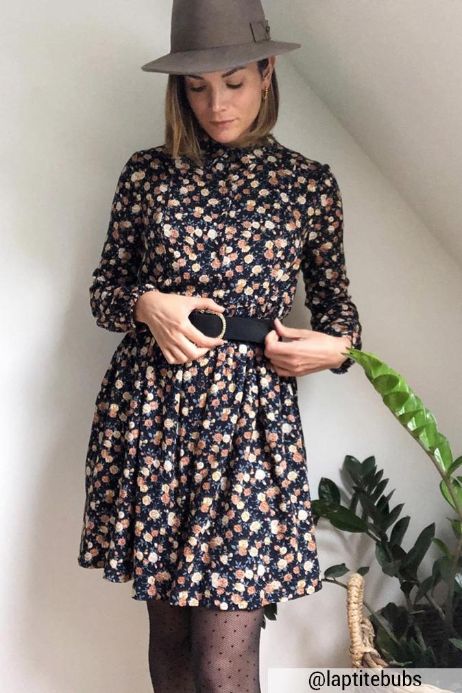 Réalisation du patron de couture la robe elena de Cha' coud