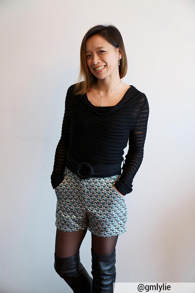 Réalisation du patron de couture le short Ema de Cha' coud