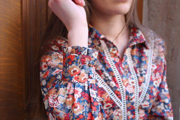 Réalisation du patron de couture de la chemise Sirine de Cha' coud