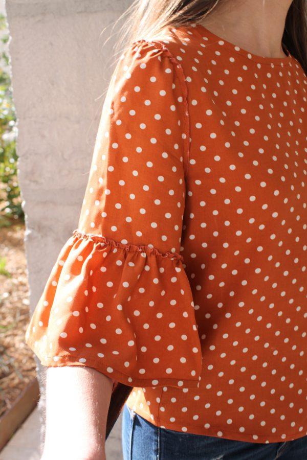 Réalisation du patron de couture de la blouse Zora de Cha' coud