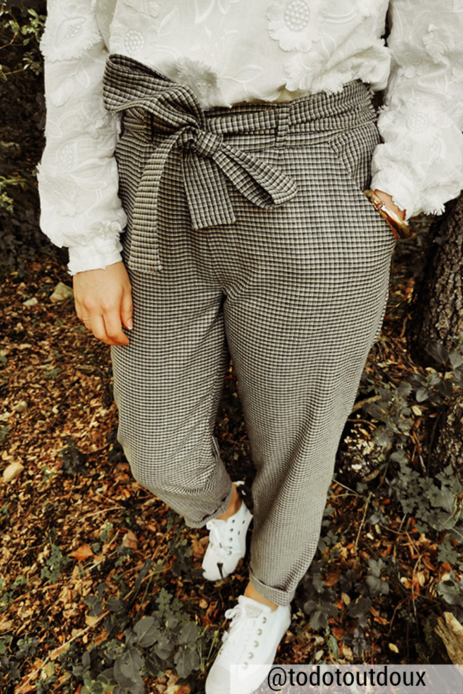 Réalisation du patron de couture du pantalon Sophie de Cha' coud