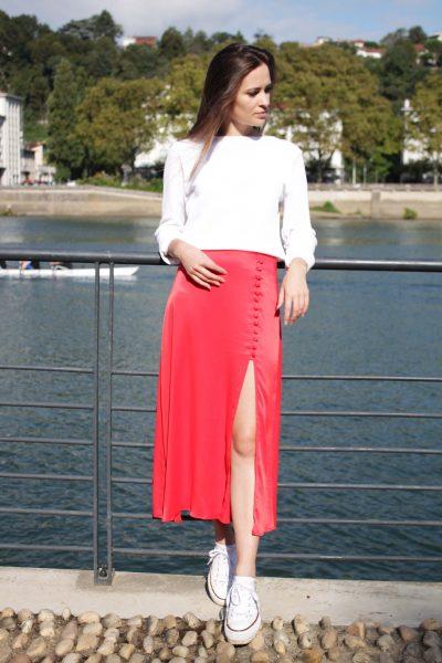 Réalisation du patron de couture du pull Benie et de la jupe Imen de Cha' coud